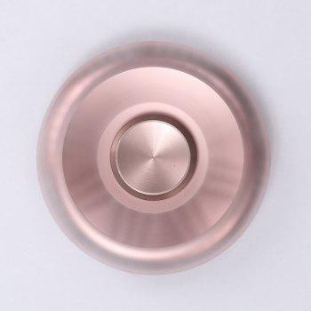 Stress Relief Toy Round Aluminum Alloy Fidget Spinner -  PINK