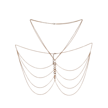 Layered Fringed Body Chain Jewelry - GOLDEN