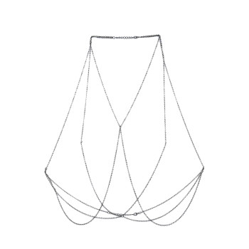 Geometric Bra Body Chain Jewelry - SILVER