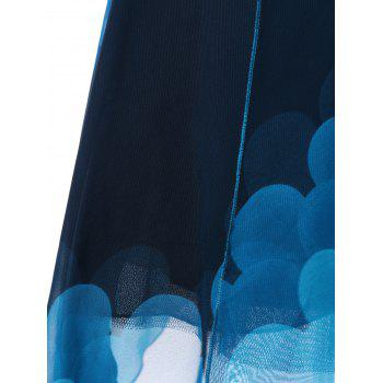 Empire Waist Ombre Handkerchief Slip Dress - BLUE BLUE