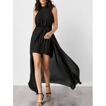 High Slit Open Back Maxi Dress
