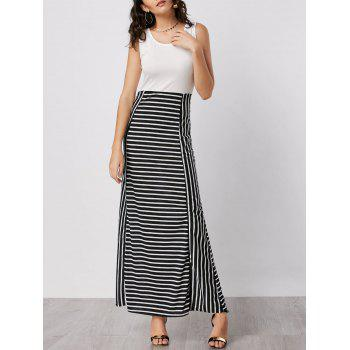 Striped Maxi Bodycon Dress