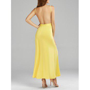 Spaghetti Strap Open Back Long Dress