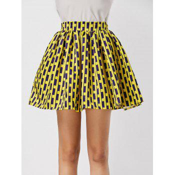 High Waisted Printed Ball Gown Skirt