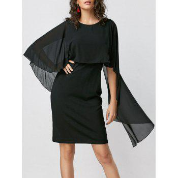 Capelet Bodycon Dress