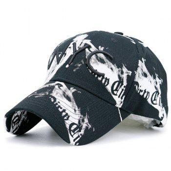 NYC Embroideried Smoke-Filled Print Baseball Hat