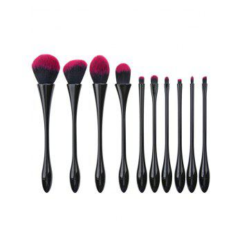 10Pcs Waisted Shape Plating Fibre Makeup Brushes Set