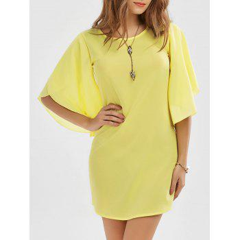 Petal Sleeve Mini Shift Dress