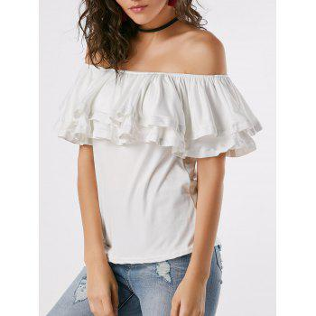 Layered Ruffle Off Shoulder Blouse