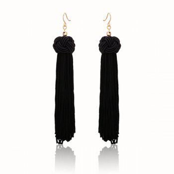 Knot Tassel Hook Vintage Earrings