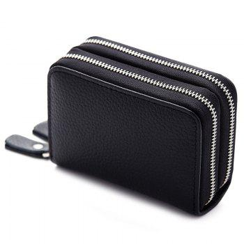 Zipper Around Faux Leather Card Bag