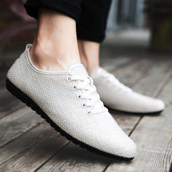 Tie Up Linen Breathable Casual Shoes