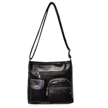 Casual Front Pockets Crossbody Bag