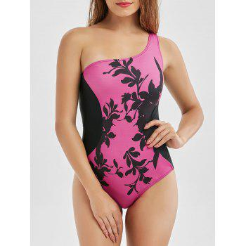 One Shoulder Padded Bra One-Piece Swimsuit