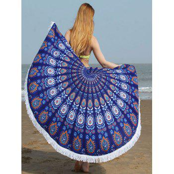 Tribe Waterdrop Fringed Edge Round Beach Towel