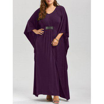 V Neck Plus Size Maxi Kaftan Dress