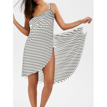 Striped Open Back Multiway Wrap Cover-ups Dress
