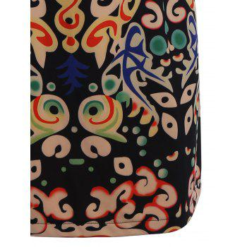 Plus Size Funny Printed Knee Length Tee Dress - multicolorCOLOR XL