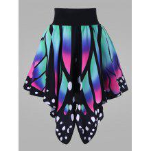 Plus Size High Waisted Butterfly Shape Skirt