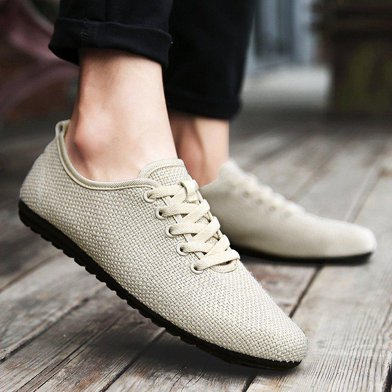 Linen Breathable Casual Shoes - Candy Beige 40 cheap best brand new unisex online outlet top quality HlHen
