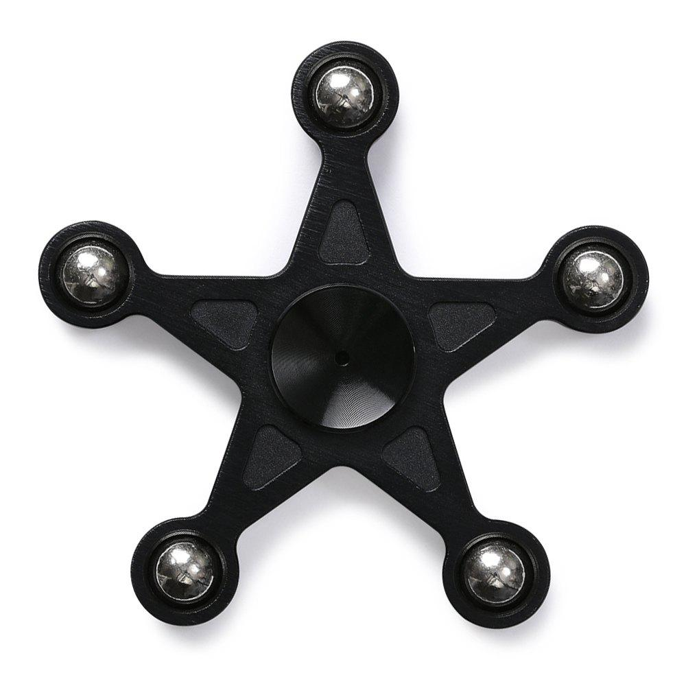 Star Shape Metal Balls Fidget Spinner - Noir