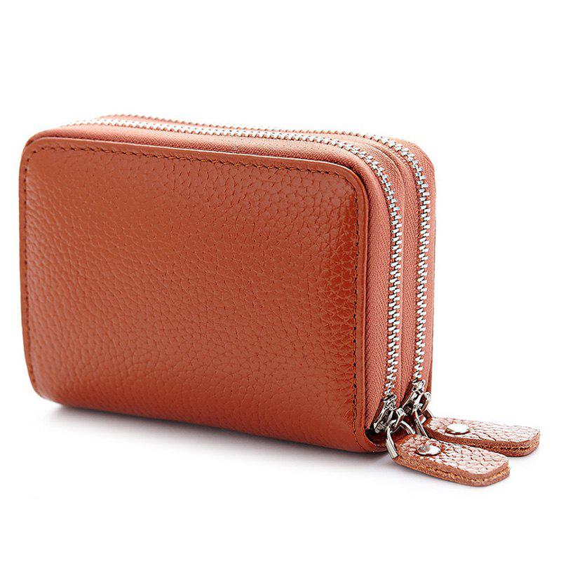 Zipper Around Faux Leather Card Bag - Terreux