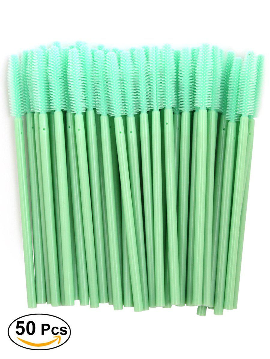 50 Pcs One Off Silicone Brow Eye Groomer Brushes - GREEN