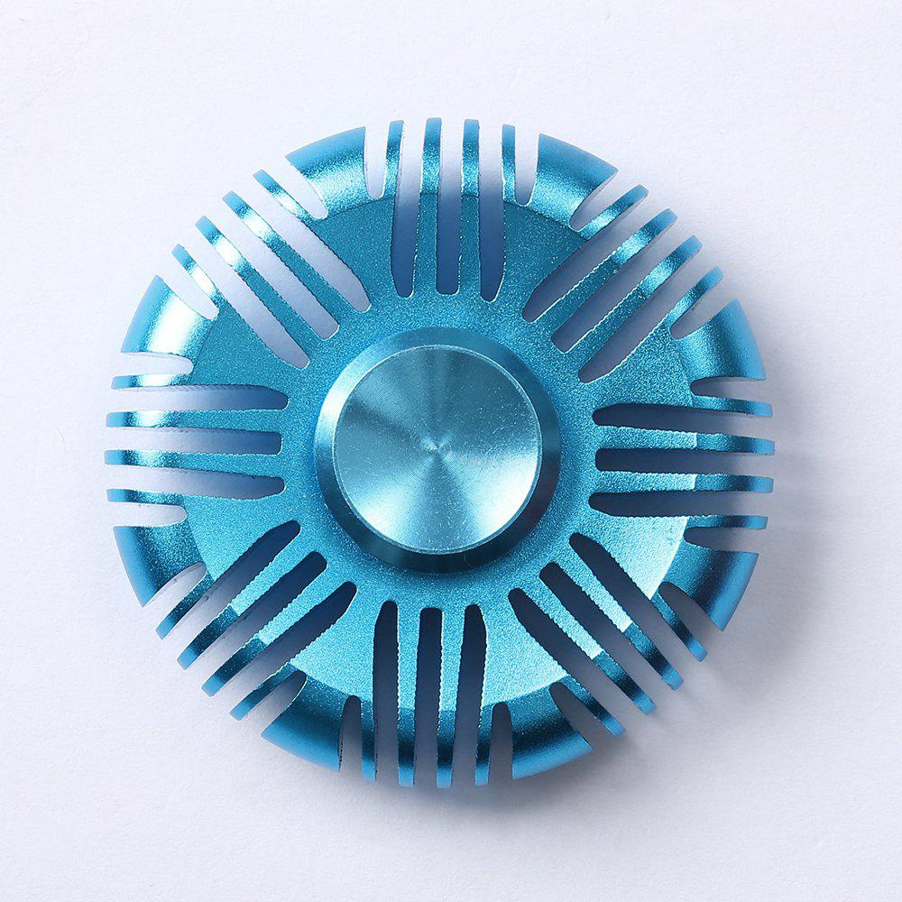 Stress Relief Toy Round Aluminum Alloy Fidget Spinner - BLUE