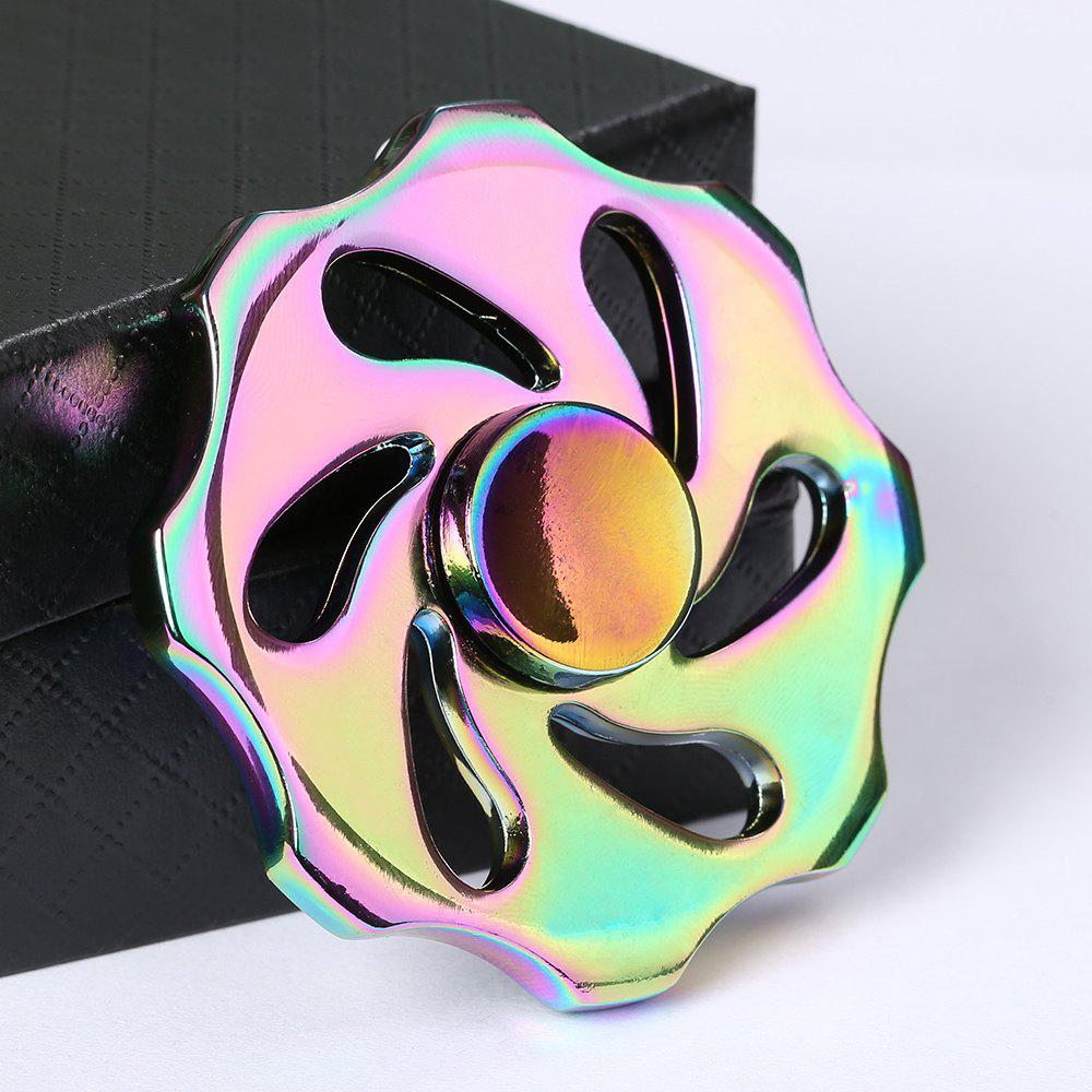 Colorful Wheel Shape Fidget Metal Spinner - multicolorcolore
