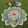 Flower Design Ethnic Floral Printed Beach Throw - BLUE GREEN