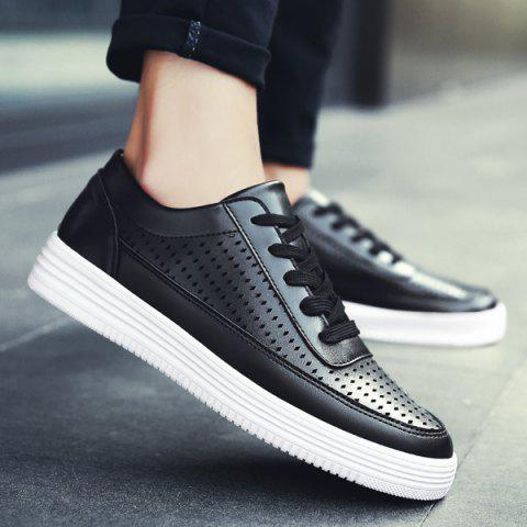 Chaussures Casual Leather Faux Leather - Noir 42