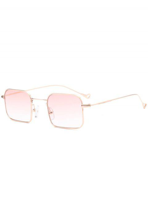 dd9c81ff32 2018 Rectangle Ombre Asymmetric Hollow Out Leg Sunglasses PINK In ...