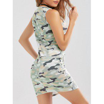 Camo Print Bodycon Tank Dress