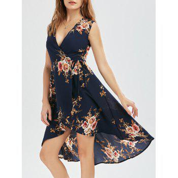 High Low Floral Wrap Dress