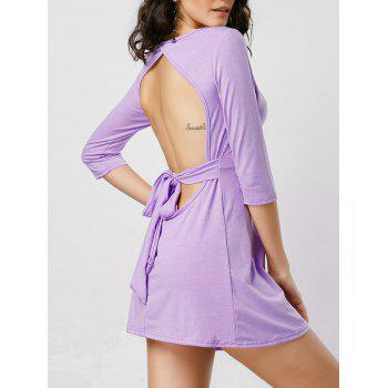 Open Back Fit and Flare Mini Dress