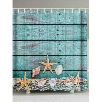 Extra Long Starfish Shell Bathroom Shower Curtain