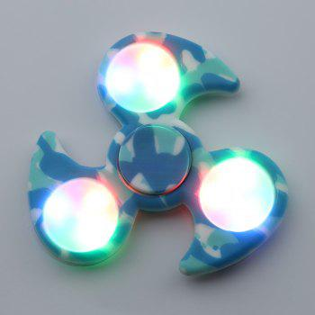 Camouflage Fidget Spinner with Flashing LED Lights