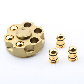 7 Mins Rotating Revolver Shape Fidget Metal Spinner -  GOLDEN