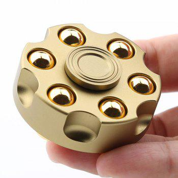 7 Mins Rotating Revolver Shape Fidget Metal Spinner - GOLDEN GOLDEN