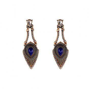 Rhinestone Faux Gem Gypsy Earrings