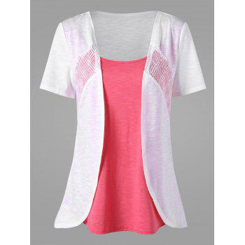 Two Tone Asymmetrical T-shirt