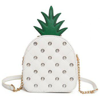 Rhinestone Pineapple Shaped Crossbody Bag