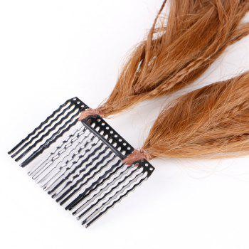 Inserted Micro Braids Short Straight Hair Pieces -  BROWN