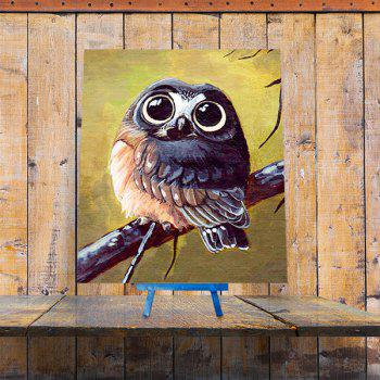Cartoon DIY 5D Resin Diamond Night Owl Paperboard Painting