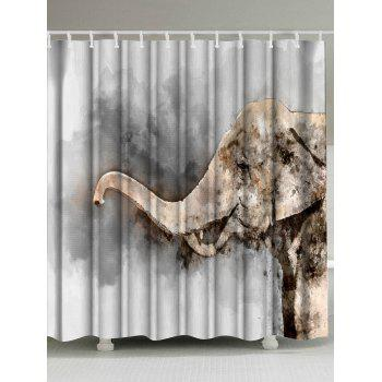 Watercolor Elephant Mildewproof Shower Curtain