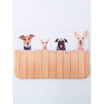 Antislip Puppy Pet Coral Fleece Bath Rug