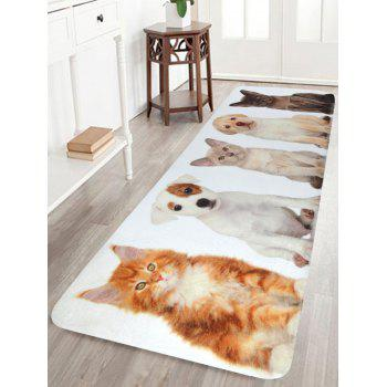 Soft Coral Velvet Pet Animal Bath Area Rug