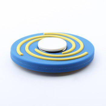 Fiddle Toy Round EDC Hand Spinner -  BLUE/WHITE
