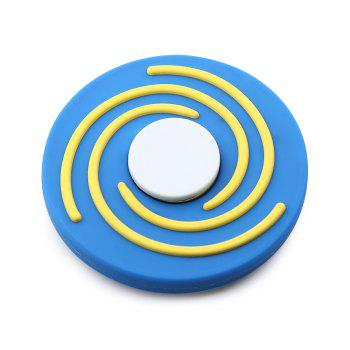 Fiddle Toy Round EDC Hand Spinner - BLUE AND WHITE BLUE/WHITE
