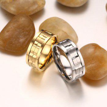 Stainless Steel Finger Fidget Ring - GOLDEN 7